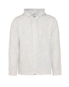 Heren hoodie met rits - Grijs