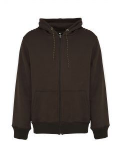 Heren hoodie met rits legergroen